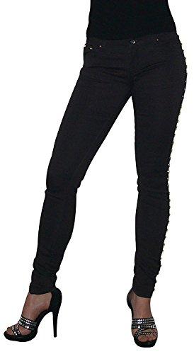 SEXY Röhren-Jeans mit Nieten ein absoluter HINGUCKER S&LU Gr.: 34- 40 Schwarz 38