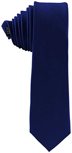 ADAMANT® Seidenkrawatte Royalblau 6cm   100% Reine Seide   Moderne uni Krawatte für Business und Alltag - Royal / Blau (Kaschmir Blau Royal)