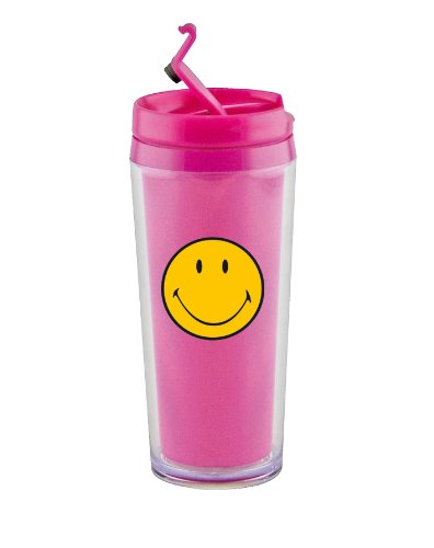 zak! Designs 6187-4431 Smiley Thermobecher 20cl fuchsia