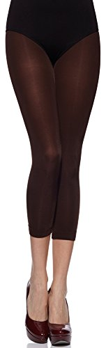Merry Style Damen Leggings 3/4 MS 132 100 DEN Chocco