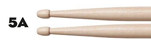 CASCHA Professional Drumsticks 5A Maple, 12 Pair (24 Pieces), Drum Kit Accessories, Drum Sticks with Wooden Tip