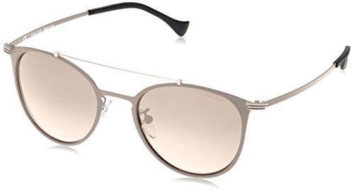 Occhiali da sole Police SPL156Rival 9ovale Occhiali da sole 51MM, colore: nero opaco Semi-Matt Antique Pewter 51 mm