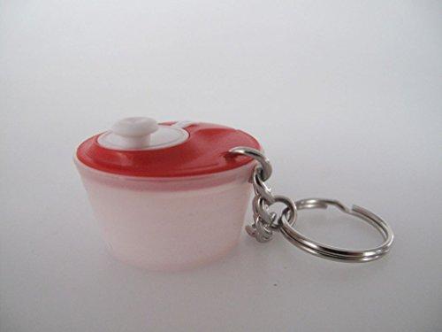 TUPPERWARE Schlüsselanhänger Rot Weiß Salatschleuder Miniatur Anhänger