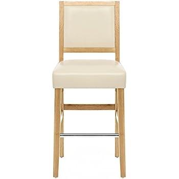 Astounding Atlantic Shopping Jasper Leather Bar Stool Oak Cream Andrewgaddart Wooden Chair Designs For Living Room Andrewgaddartcom