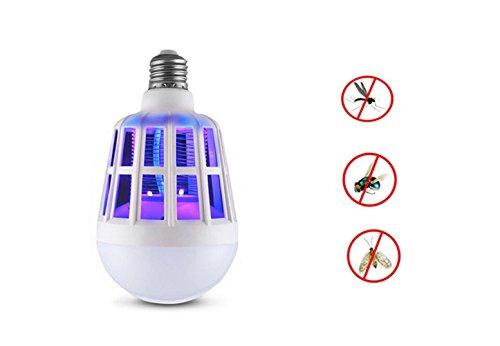 Bug Zapper Light Bulb, 2 in 1 Electronic Killer Lamp Killer Lamp, Fly Killer, Trappola per insetti incorporata, LED Light Lamp Zanzara Repellente per Indoor Outdoor Campeggio Viaggi Home Garden, E27,220V