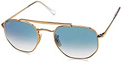 Ray-Ban Gradient Square Unisex Sunglasses - (0RB3648001/3F51|50|Clear Gradient Blue Color)