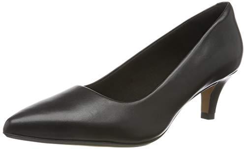 Clarks Linvale Jerica, Zapatos de Tacón para Mujer, Negro Black Leather, 38 EU