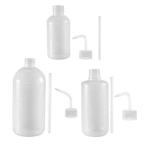 Lagerung Von Flüssigkeiten (sourcing map Plastik Waschflasche Quetschflasche Labor Flüssigkeit Lagerung 250ml+500ml+1000ml)