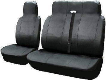 Preisvergleich Produktbild Leder Look Van Sitzbezüge Einzel Treiber und Doppel Passagiere Sitzbezüge Set