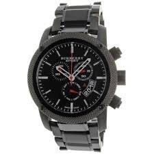 B U R B E R R Y Men's Sport Chronograph Black Dial Steel Strap Watch BU7703