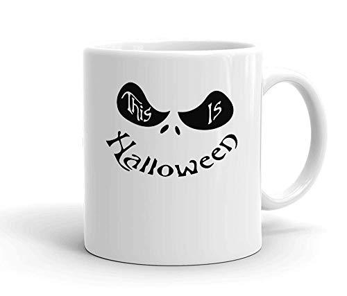 alloween Weißer Keramik-Becher für Tee und Kaffee ()