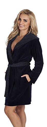 Classico vestaglia accappatoio donna Blu scuro