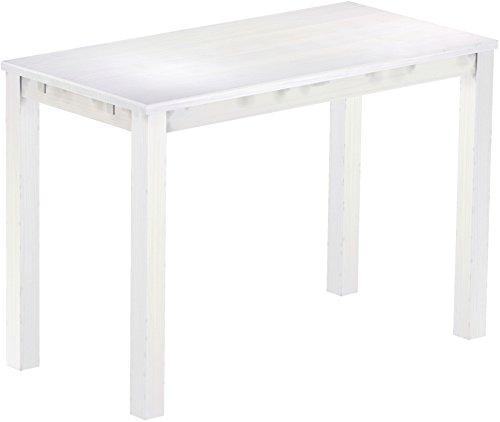 Brasil Meubles Haut 'Rio Classico' Table 200 x 80 cm, Pin Massif, Coloris Blanc