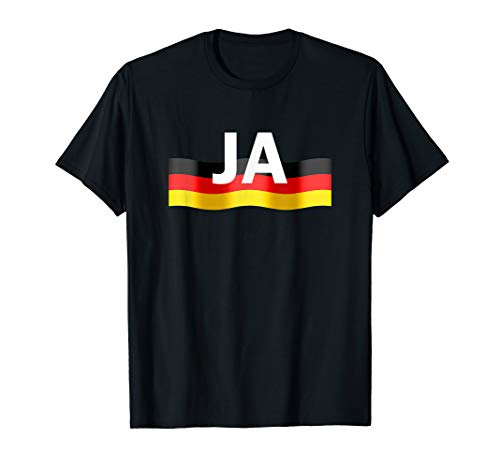 Deutschland Flagge Ja Shirt Fahne Fussball Handball Sportler
