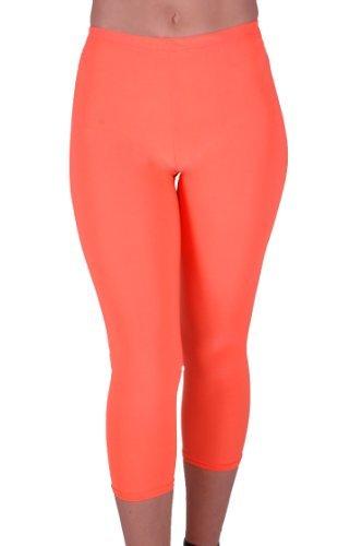 Eyecatch - Jen Frauen Capri Stil Crop Leg Pull auf Damen Leggings (Womens Capris Orange)