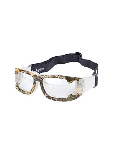 fussball sportbrille GEAMBO Sportbrillen für Basketball Fußball Volleyball Hockey Outdoor Sports Brille Schutzbrille Brillen mit (Tarnen)