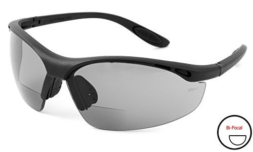 Calabria 91348 Bi-Focal Safety Glasses UV Protection in Smoke +1.50 by Calabria