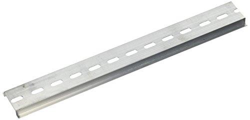 Preisvergleich Produktbild sourcingmap® 4 Stück 35mm Breit Hutschiene Tragschiene Montageschiene gelocht Alumium 250mm