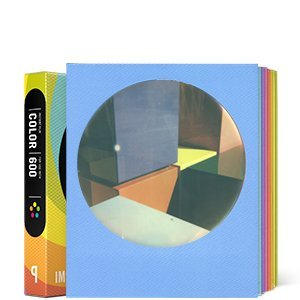 Impossible 4154 Sofortbildfilm für Polaroid 600 Kamera 8 Aufnahmen Multicolor Round Frame
