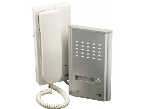 SCS SEN4137091 Metallic Door Phone Kit Mounted in Brackets 2 Wires Included