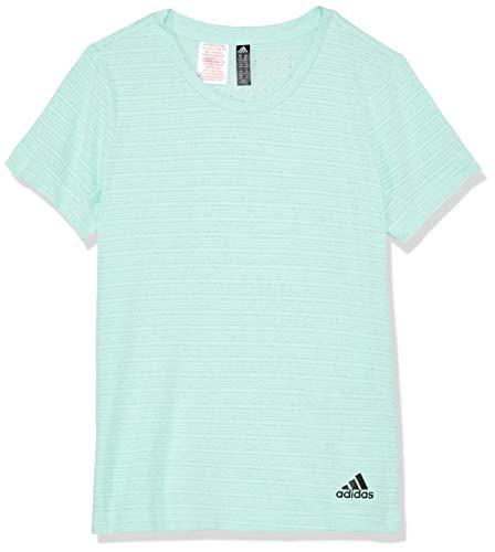 Adidas Gestreiftes T-shirt (adidas Mädchen Chill Kurzarm T-Shirt, Clear Mint, 128)