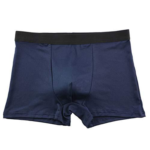 Crazboy Herren Soft Briefs Unterhose Knickers Shorts Sexy Einfach und günstig Unterwäsche(X-Large,Dunkelblau-B) -