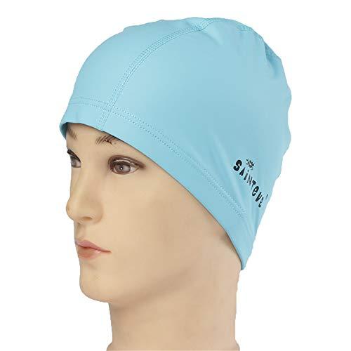 WXH Swim Cap/Dusche-Cap 3 D Ergonomic Design komfortabel und dauerhafte Ear Protection Wasserdichte Elastic Cap für Männer und Frauen Kinder im Freien Schwimmen