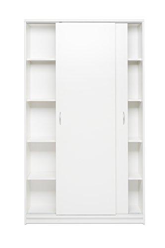 002073 KIEL 15 Weiß Schwebetürenschrank Schiebetürenschrank Kleiderschrank St…