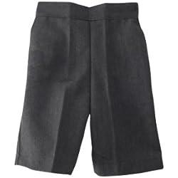 Direct uniforms - Pantalón corto de uniforme escolar para niños, color gris, para edades desde 18 meses a 9 años gris gris 8-9 Años