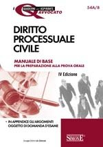 *54A/8 DIRITTO PROCESSUALE CIVILE 2012 Manuale di base per la preparazione alla prova orale