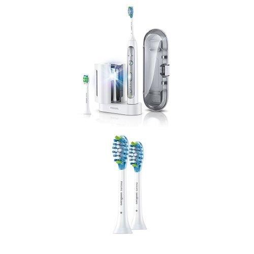 Philips Sonicare HX9172/15 FlexCare Platinum Schallzahnbürste, UV-Reinigungsgerät inkl. 2er Pack Aufsteckbürsten Philips Sonicare Uv