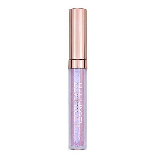 BaZhaHei Glitter lucidalabbra Metallic Glitter Rossetto Impermeabile Lip Gloss Nude Shimmer Lip Makeup Cosmetics - 10 Colore Brillante Liquid Lip Gross