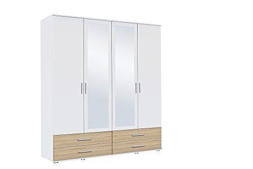 Avanti trendstore - rasant 3- armadio in quercia san remo/ bianco , 168x188x52cm
