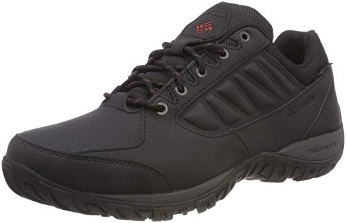 Columbia Ruckel Ridge Waterproof, Scarpe da Trekking da Uomo Impermeabili, Nero (Black/Rusty 010), 43.5 EU
