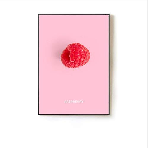 zxkx Aquarell Mode Obst Leinwand Malerei Kunstdruck Poster Modern Minimalist Restaurant Wandbild No Frame 50x70 cm