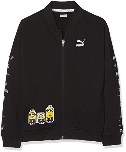 Puma Jungen Minions Bomber Sweatshirt, Cotton Black, 152