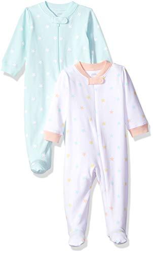 Amazon Essentials Schlaf- und Spielset für Mädchen, 2 Stück, Uni Star, US 6-9M (EU 63-74)