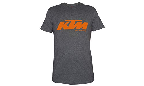 Original KTM T-Shirt - Grau / Orange - LOGO Print (L) + Schlüsselband