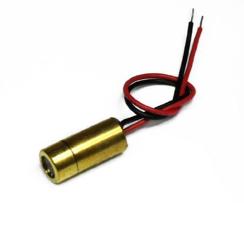 Kreuzlaser, rot, 650nm, 45°, 0.75mW, 3V DC, Ø9x20mm, Laser Klasse 1, Fokus fixiert (100mm), Kabellänge 100mm - 70124323 (100 Mw Laser)