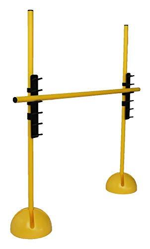 Boje Sport Sprungstangen-Set XS100yl (3 gelbe Stangen, 2 gelbe X-Standfüße, 2 Leiterhürden) - Farbe: gelb