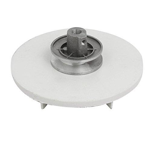 DealMux 143 mm Diámetro 54 mm Altura Lavadora Polea motriz Rueda de tono de plata