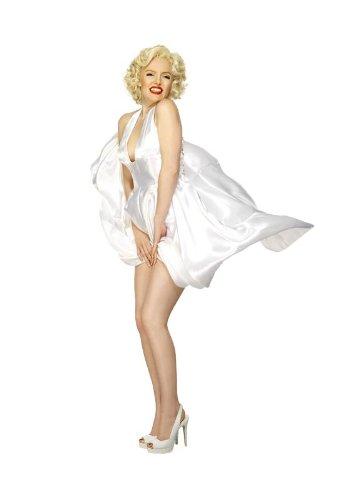 Smiffys Damen Marilyn Monroe Kostüm, Nackenträger Kleid, Größe: 48-50, 27428 (Halloween-kostüm Marilyn Monroe)