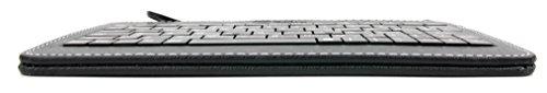 QWERTZ-Tastatur und Kunstledertasche mit Stand für Medion AKOYA P2211T Windows-Tablet (MD 98874), LIFETAB S10333, LifeTab E10312 MD98486, E10320 und E10317 Tablets - 5