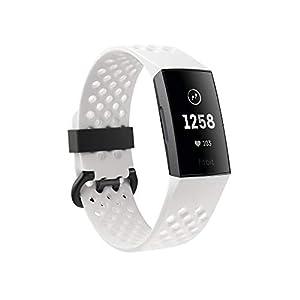 Fitbit Charge 3 Pulsera Avanzada de Salud y Actividad física, Unisex-Adult, Grafito/Blanco, Talla Unico 4