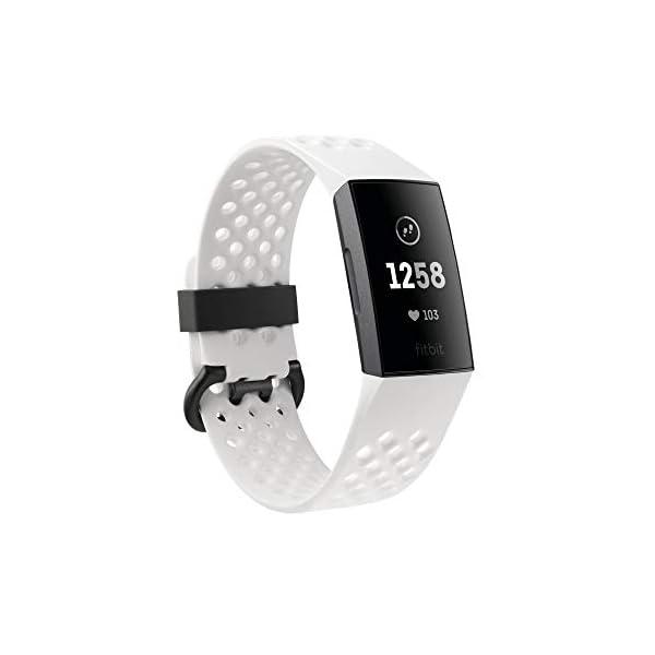 Fitbit Charge 3 Pulsera Avanzada de Salud y Actividad física, Unisex-Adult, Blanco Hielo/Aluminio Color Grafito, Talla… 2