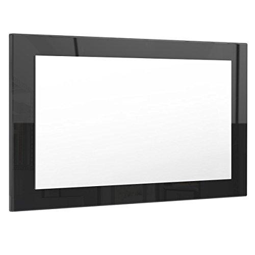 Spiegel Wandspiegel Lima 89cm in Schwarz Hochglanz