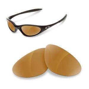 sunglasses restorer Kompatibel Ersatzgläser für Oakley Minute 1.0, Polarized Brown Mirror Linsen