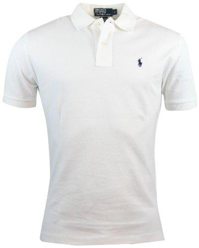Polo Ralph Lauren Herren Klassisch geschnittenes Poloshirt aus Mesh (XX-Large, White)