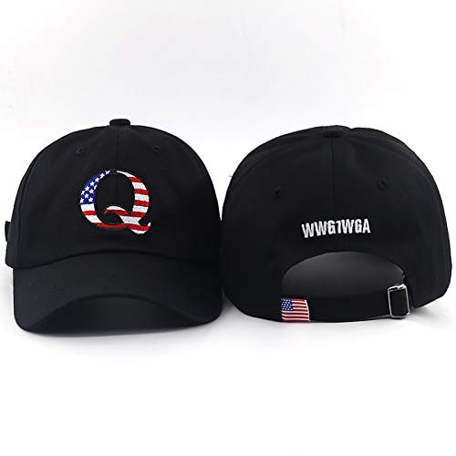 JJJRMP Stickerei-Vati-Hut Wwg1Wga Auf Hinterer Baseballmütze Trending Amerikanische Politische Große Awakening ()