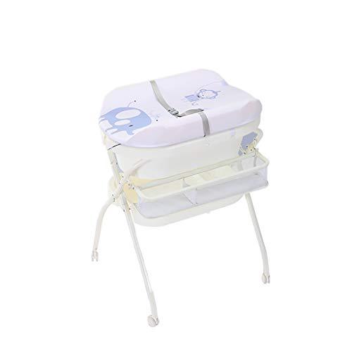 Diaper table Snow Yang Multifunktionaler Babywindeltisch/Pflegetisch, Windelbadmassage mit Aufbewahrungstasche, wasserdichte Tischplatte klappbar